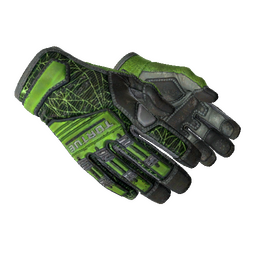 ★ Specialist Gloves | Emerald Web (Well-Worn)