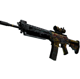 StatTrak™ SG 553 | Colony IV (Battle-Scarred)