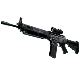 Souvenir SG 553 | Damascus Steel (Battle-Scarred)