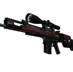 SCAR-20 | Crimson Web (Well-Worn)