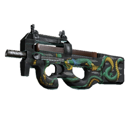 P90 | Emerald Dragon (Well-Worn)