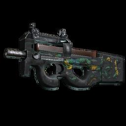 P90 | Emerald Dragon (Battle-Scarred)