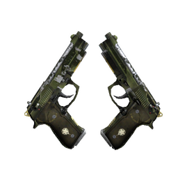 StatTrak™ Dual Berettas | Retribution (Well-Worn)