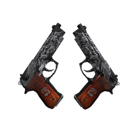 Dual Berettas | Dualing Dragons (Well-Worn)