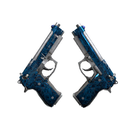 Dual Berettas | Cobalt Quartz (Well-Worn)