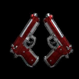 Dual Berettas | Hemoglobin (Minimal Wear)