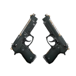Dual Berettas | Contractor (Well-Worn)