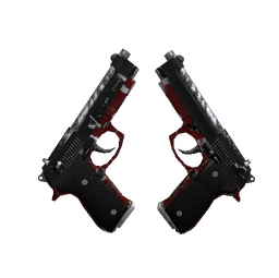 StatTrak™ Dual Berettas | Panther (Well-Worn)