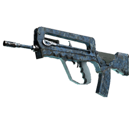 FAMAS | Cyanospatter (Well-Worn)