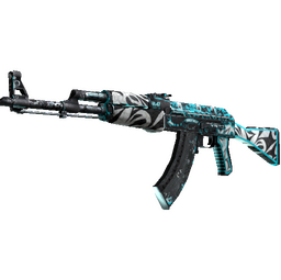 StatTrak™ AK-47 | Frontside Misty (Battle-Scarred)