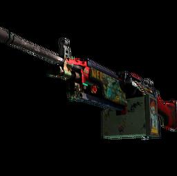 StatTrak™ M249 | Nebula Crusader (Battle-Scarred)