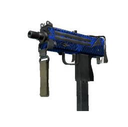 MAC-10 | Lapis Gator (Well-Worn)