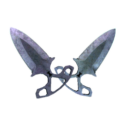 ★ StatTrak™ Shadow Daggers | Blue Steel (Battle-Scarred)