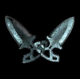 ★ Shadow Daggers | Damascus Steel (Battle-Scarred)