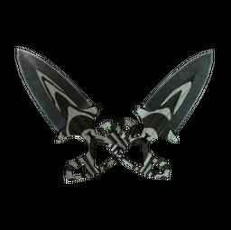 ★ Shadow Daggers   Black Laminate (Well-Worn)