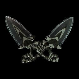 ★ StatTrak™ Shadow Daggers   Black Laminate (Battle-Scarred)