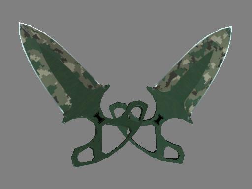 ★ Shadow Daggers | Forest DDPAT (Well-Worn)