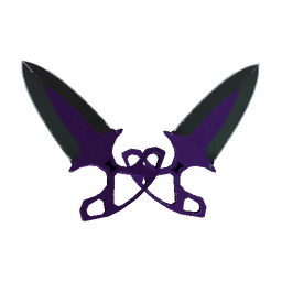 ★ StatTrak™ Shadow Daggers | Ultraviolet (Well-Worn)