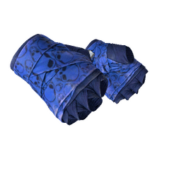 ★ Hand Wraps | Cobalt Skulls (Well-Worn)