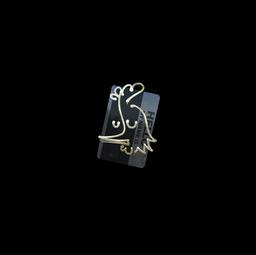 Sticker | Hello AK-47 (Gold)
