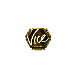 Sticker | vice (Gold) | London 2018