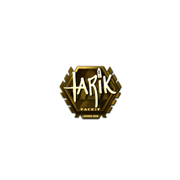 Sticker | tarik (Gold) | London 2018