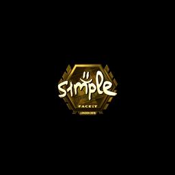 Sticker | s1mple (Gold) | London 2018