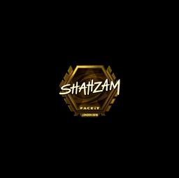 Sticker | ShahZaM (Gold) | London 2018