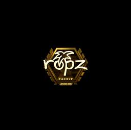Sticker | ropz (Gold) | London 2018