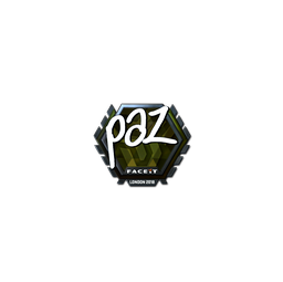 Sticker | paz (Foil) | London 2018