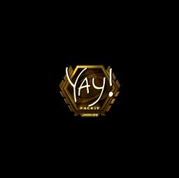Sticker   yay (Gold)   London 2018