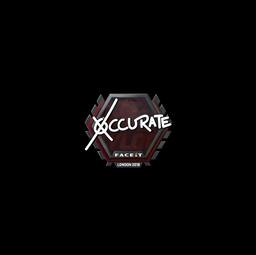 Sticker | xccurate | London 2018