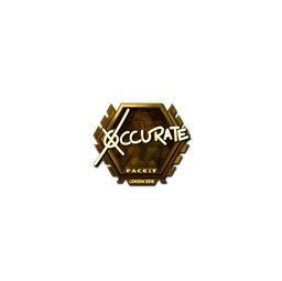 Sticker | xccurate (Gold) | London 2018