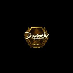 Sticker | dupreeh (Gold) | London 2018