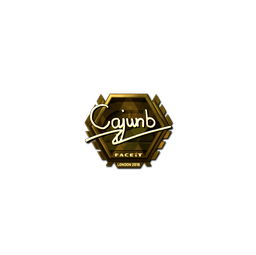 Sticker | cajunb (Gold) | London 2018
