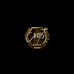 Sticker | chrisJ (Gold) | London 2018