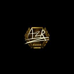 Sticker | AZR (Gold) | London 2018
