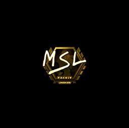 Sticker | MSL (Gold) | London 2018