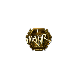 Sticker | MAJ3R (Gold) | London 2018