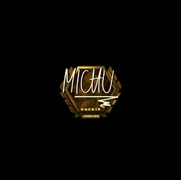 Sticker | MICHU (Gold) | London 2018