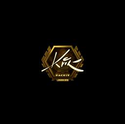 Sticker | Kvik (Gold) | London 2018