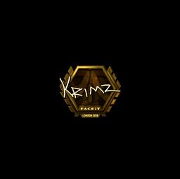 Sticker | KRIMZ (Gold) | London 2018