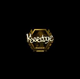 Sticker | Kjaerbye (Gold) | London 2018