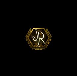Sticker | jR (Gold) | London 2018