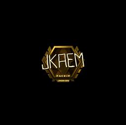 Sticker | jkaem (Gold) | London 2018