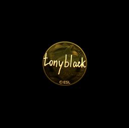 Sticker   tonyblack (Gold)   Katowice 2019