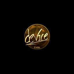 Sticker | device (Gold) | Katowice 2019