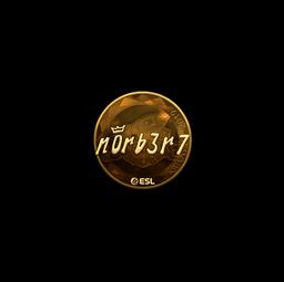 Sticker | n0rb3r7 (Gold) | Katowice 2019