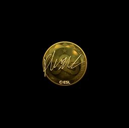 Sticker   flusha (Gold)   Katowice 2019