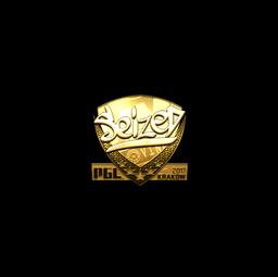 Sticker | seized (Gold) | Krakow 2017
